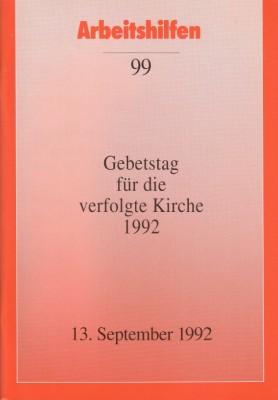 Gebetstag für die verfolgte Kirche 1992