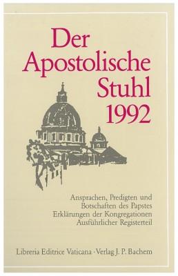 Der Apostolische Stuhl 1992