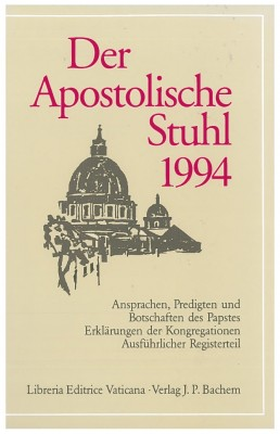 Der Apostolische Stuhl 1994