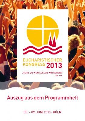 Flyer zum Eucharistischen Kongress 2013 in Köln
