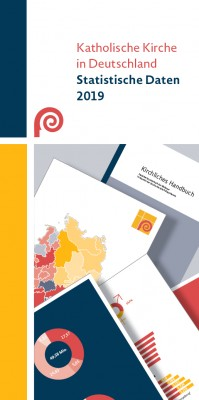 Flyer Katholische Kirche in Deutschland. Statistische Daten 2019