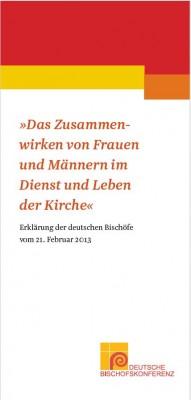 """Flyer """"Das Zusammenwirken von Frauen und Männern im Dienst und Leben der Kirche"""""""